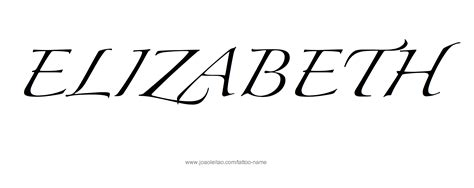 elizabeth tattoo designs elizabeth name designs