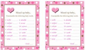 Related posts make your own baby shower word scramble