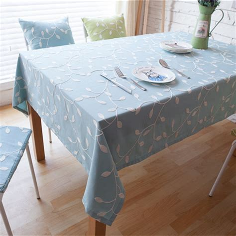 Embroidered Tablecloth Set Dining Table Cloth Set 6pcs Set Dining Table Cloth