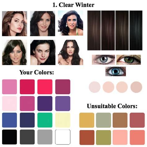 clear winter color palette image result for clear winter palette color palette