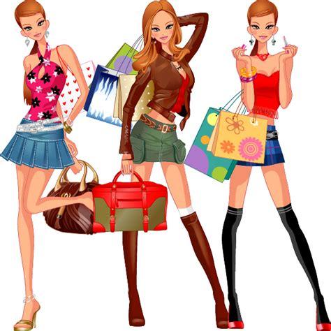 Imagenes Vectores Compras | vectores de mujer mona de compras vector clipart