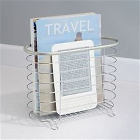 Small Magazine Rack For Bathroom by Brushed Stainless Steel Bathroom Magazine Rack Small Book