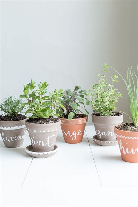 indoor herb pots diy labeled indoor herb planters h o m e