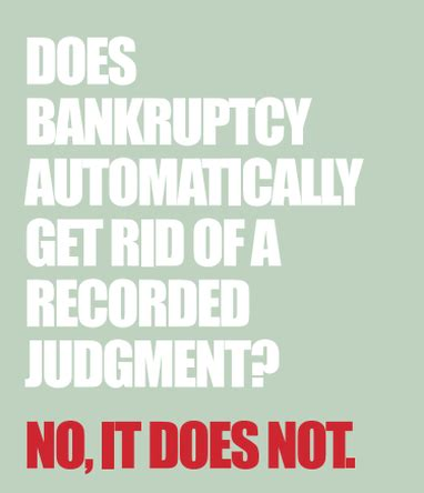 How To Get A Judgement Removed From Records Bankruptcy Won T Get Rid Of Recorded Judgment Kristi Munoz Title Talk