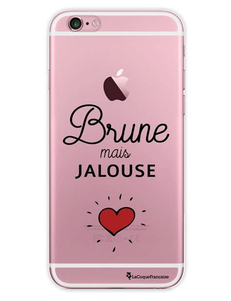 coque transparente brune mais jalouse iphone 6 et 6s mooveteck