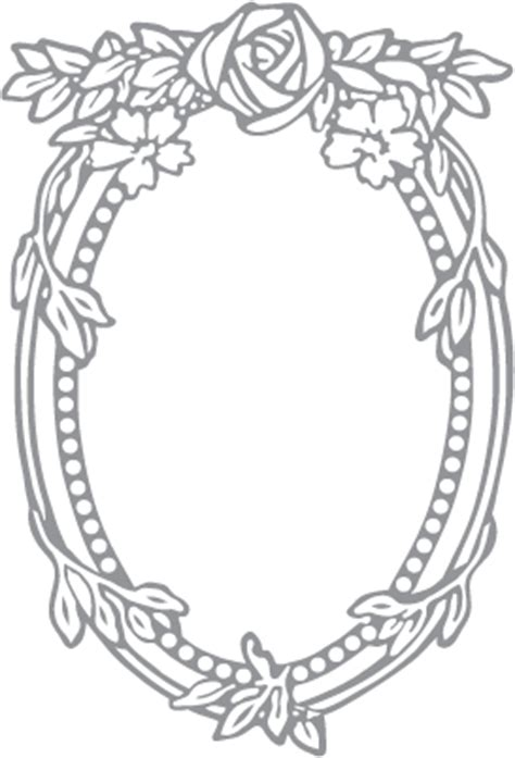 rose and oval frame pre cut patterns