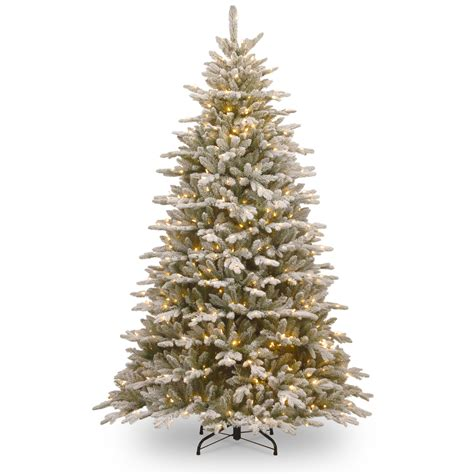 national tree snowy impearial national tree company 7 1 2 snowy spruce hinged tree