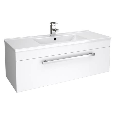 bathroom basins with storage bathroom storage wall hung vanity unit cloakroom cabinet dropdown sink basin 003 ebay