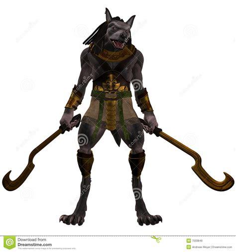 anubis fantasie egyptisch monster stock illustratie