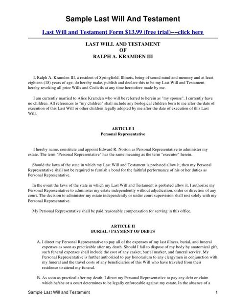 printable last will and testament template 1000 images about last will n testament on