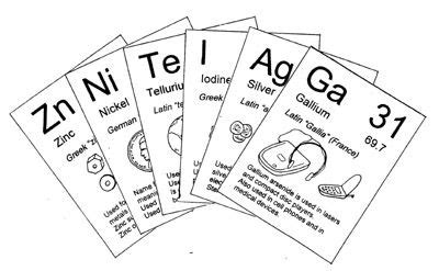 printable periodic table flash cards pin by jennifer lafferty on cc cycle 3 pinterest