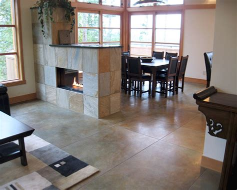 Indoor Stone Fireplace concrete sealers gloss levels decorative concrete