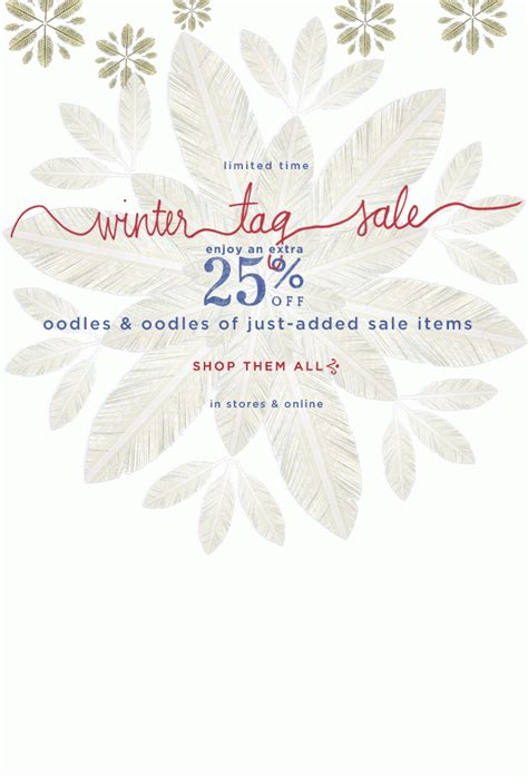 effortlessly with anthropologie s winter tag sale