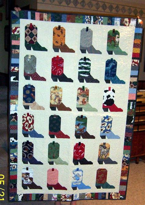 Cowboy Boots Quilt Pattern cowboy boot quilt pictures to pin on tattooskid