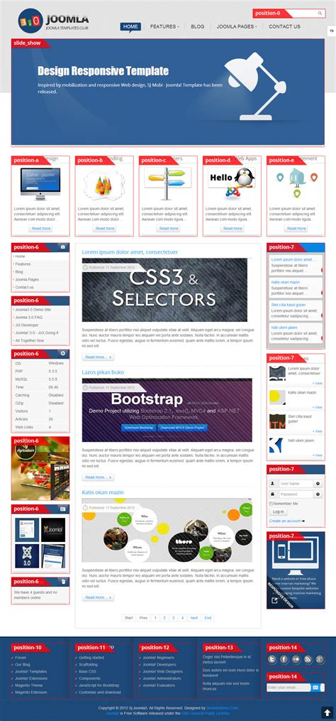 template joomla software sj joomla3 free template for joomla 3 x