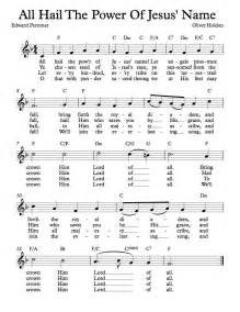 Free lead sheet all hail the power of jesus name michael