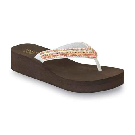 white beaded shoes tropical escape s bondi brown coral white beaded