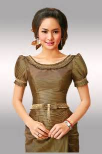 Cambodia women clothes are designed by cambodian professional tailors
