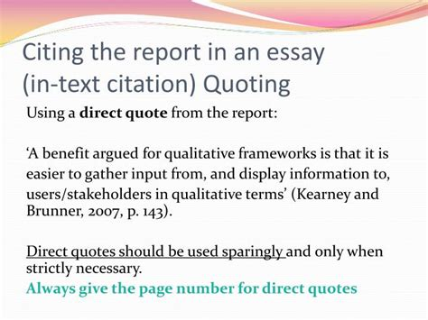 Using Quotes In An Essay by Ppt Plagiarism And Referencing Powerpoint Presentation Id 2616184