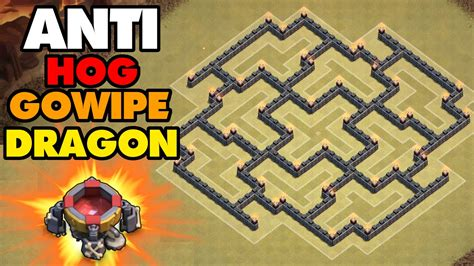 coc layout anti gowipe th8 clash of clans town hall 8 th8 war base defense