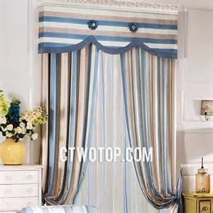Brown And Blue Curtains Blue Striped Curtains Rooms