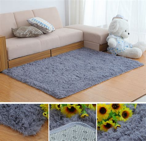 Soft Bedroom Carpet 80x160cm Bedroom Living Room Soft Shaggy Anti Slip Carpet