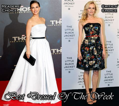 Best Dressed Of The Week Diane Kruger At Haute Couture Fashion Week by Best Dressed Of The Week Natalie Portman In Christian