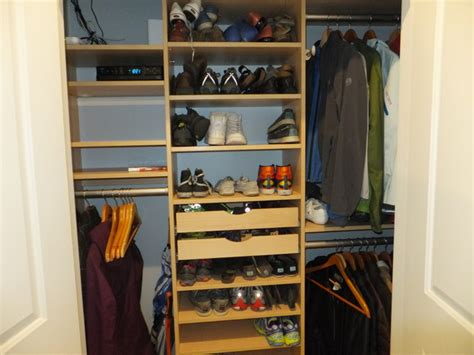 Storage Solutions For Small Closets by Small Space Storage Solutions Transitional Closet