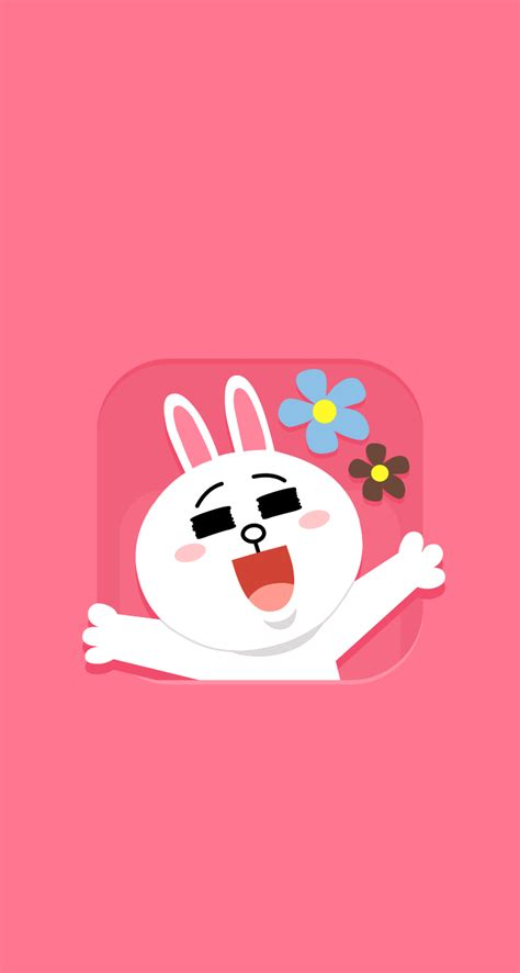 wallpaper cute line download line pinky cony 744 x 1392 parallax wallpapers