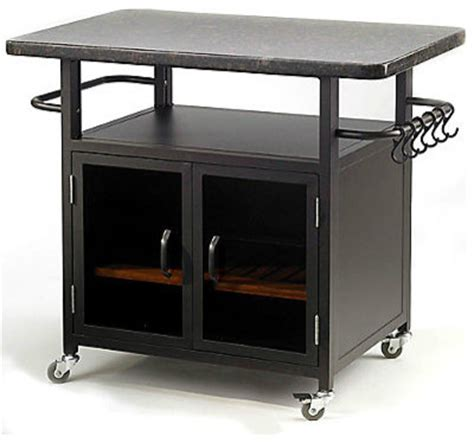 Outdoor Grill Table by Bistro Grill Cart With Granite Top Modern Outdoor