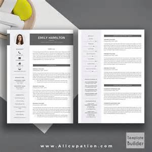 Creative Resume Templates For Mac by Creative Resume Template Modern Cv Template Word Cover Letter References Instant
