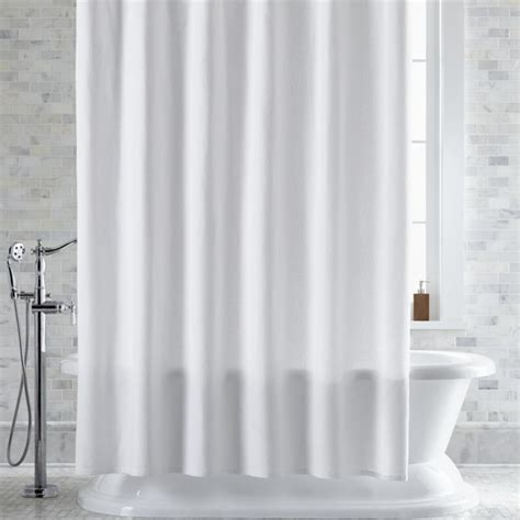 white bathroom curtains pebble matelass 233 white shower curtain crate and barrel