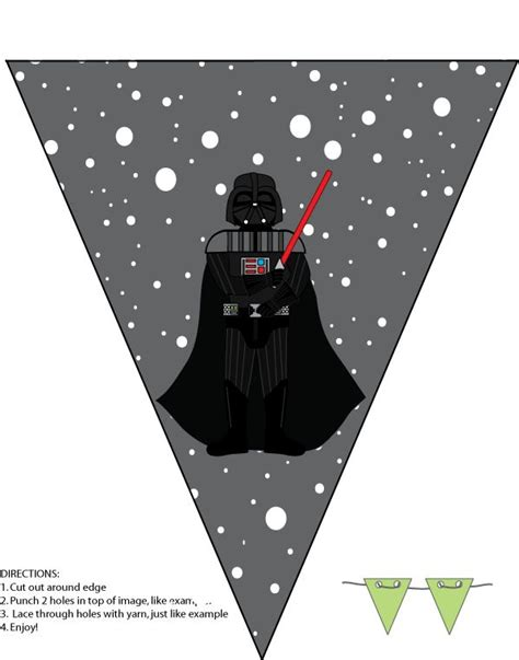 printable star wars christmas decorations 68 best star wars birthday printables images on pinterest