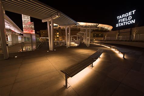 under bench led lighting target field metro transit station ilight technologies