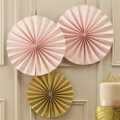 paper fan circle decorations gold sparkling circle fan decorations by ginger ray