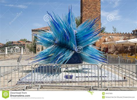 blue guide venice blue blue glass sculpture in murano venice italy editorial stock image image 49427829