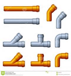 Bathroom Sink Drain Pipe - pvc sewer pipes orange gray stock photography image 30859562