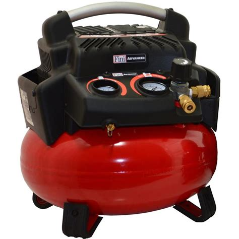 shop fini 6 gallon portable electric pancake air compressor at lowes