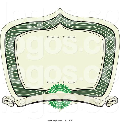 royalty free vector logo of a cash money frame by