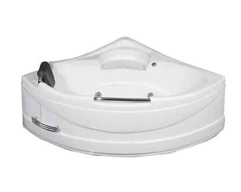 corner bathtub home depot aston 4 feet 10 inch corner whirlpool bathtub in white
