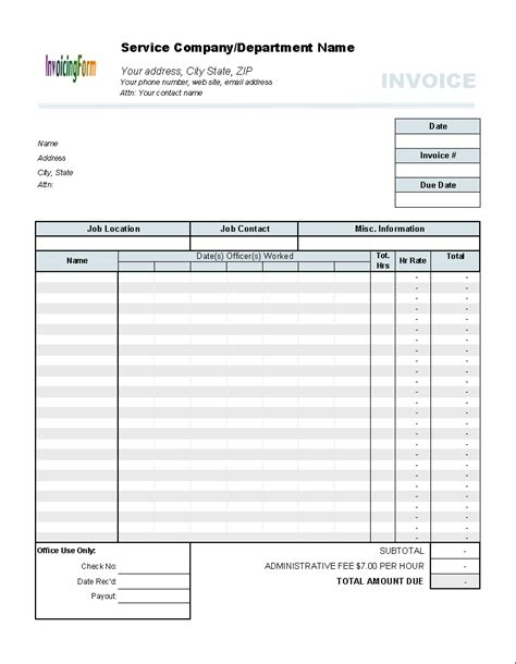 Timesheet Invoice Template timesheets templates new calendar template site