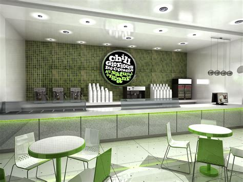Corporate Office Decor by Gurooji Design Chill Ice Cream Shop Design