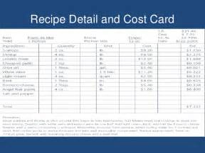 cost calculator excel template food cost calculator