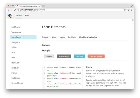 mailchimp pattern library atomic design in practice does it work prototypr