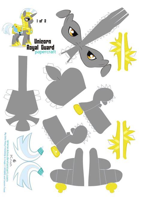Unicorn Papercraft - unicorn royal guard 1 of 2 by kna on deviantart