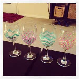 Decorate Wine Bottle Gift Diy Wine Glasses With Acrylic Paint Diy Amp Crafts