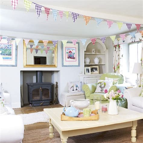 Living Room Bunting by Playful Living Room Design Living Room Designs