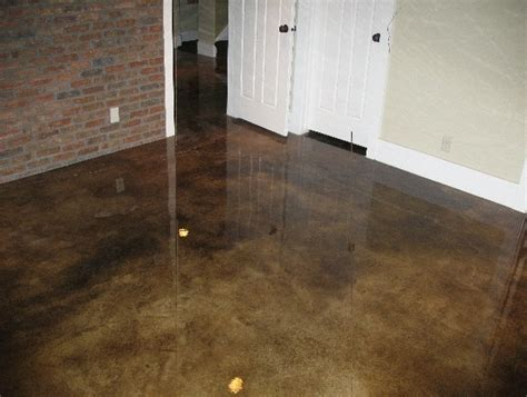 stained concrete floor obsessed this grey brown