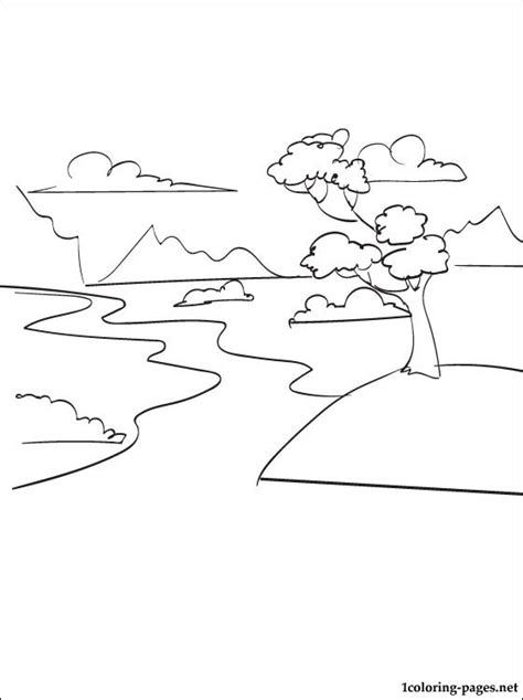 River Coloring Pages Printable river printable coloring pages