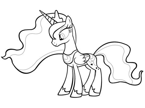 simple my little pony coloring pages my little pony coloring pages princess luna download